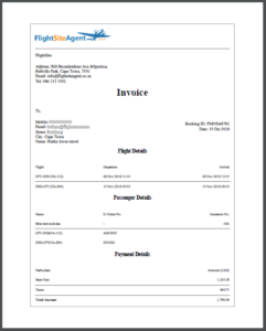 Agent invoice